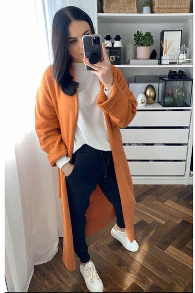Orange Camilla Cardigan - Sarah Alexandra Boutique