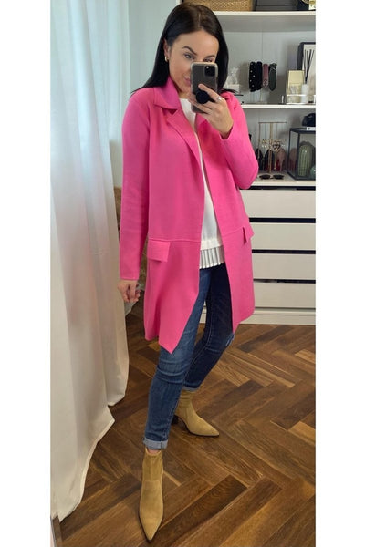 Pink Coatigan - Sarah Alexandra Boutique