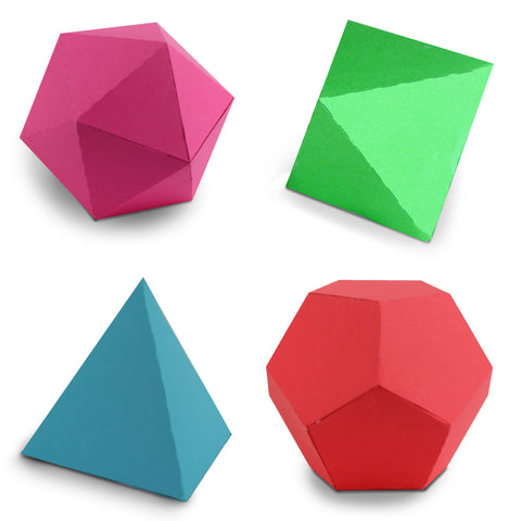 3d Geometric Shapes For Silhouette And Digital Diecutting Minilou