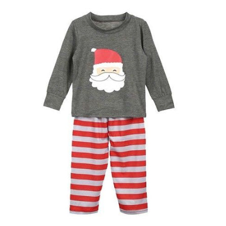 Christmas Kid Pajamas - Gray Santa