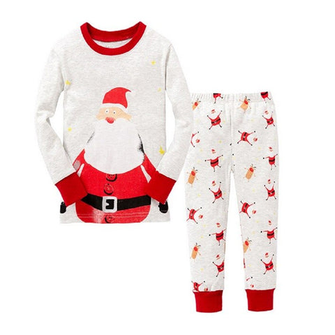 Christmas Kid Pajamas - Ivory Santa