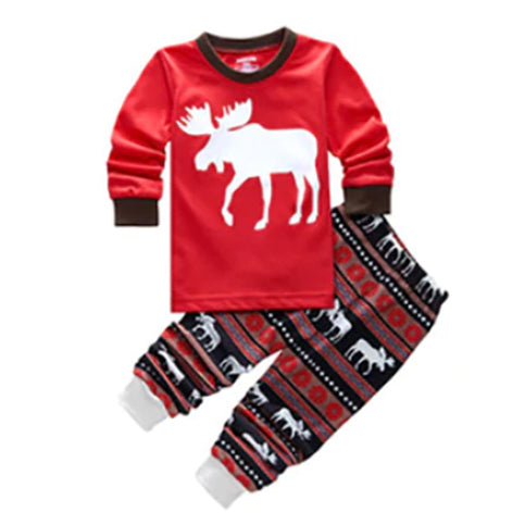 Christmas Kid Pajamas - Moose