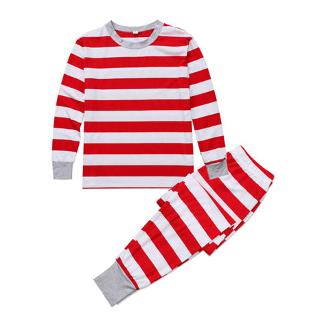 Christmas Kid Pajamas - Red Stripe