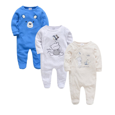 Cozy Baby Pajamas with Feet - Follow Your Star, Magic Moments, Blue Bear