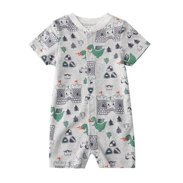 Crawling Baby Rompers - Dragon