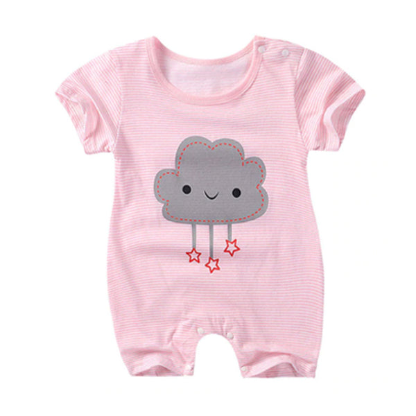 Crawling Baby Rompers - Pink Cloud