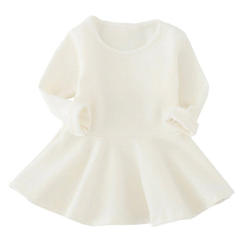 Cream Sweater Baby Dress