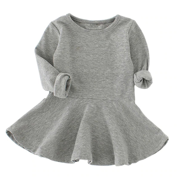 Gray Sweater Baby Dress