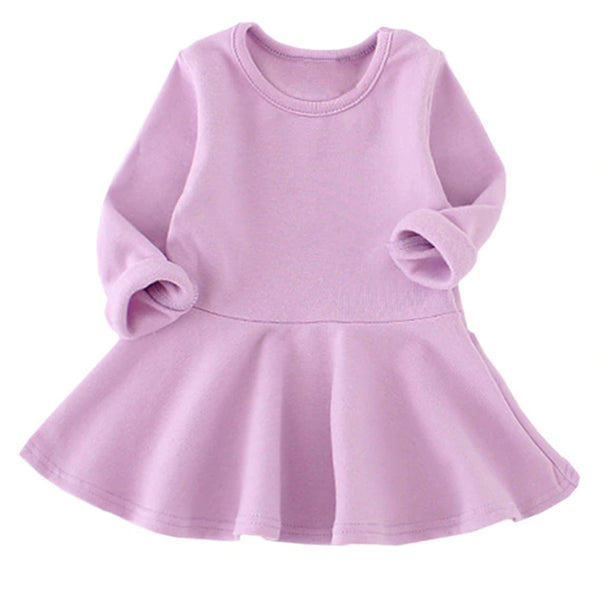 Lavender Sweater Baby Dress