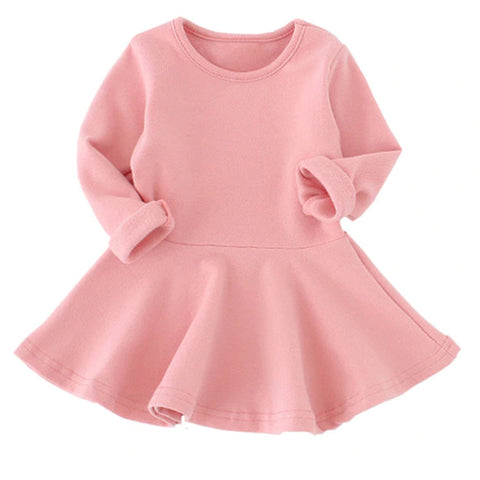 Pink Sweater Baby Dress