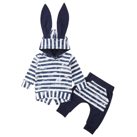 Hooded Baby Outfits - Bunny Dark