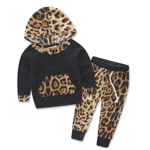 Hooded Baby Outfits - Leopard