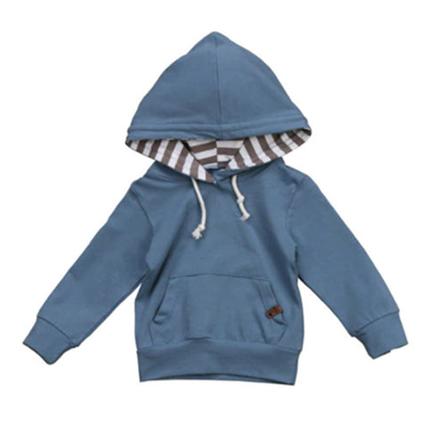 Hooded Baby Tops - Blue