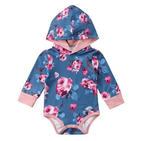 Hooded Baby Tops - Roses