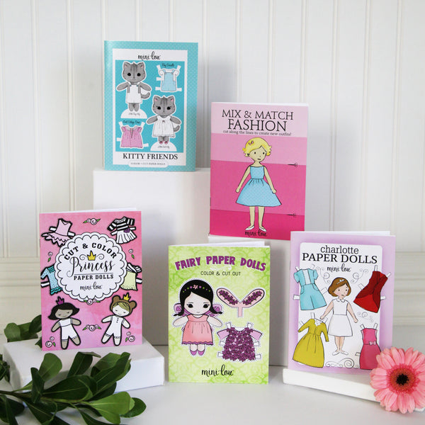 Cut and Color Paper Doll Coloring Books
