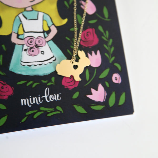 Alice in Wonderland and Bunny Necklace Gift Set