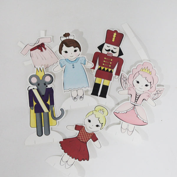 Nutcracker Paper Dolls | Digital Printable