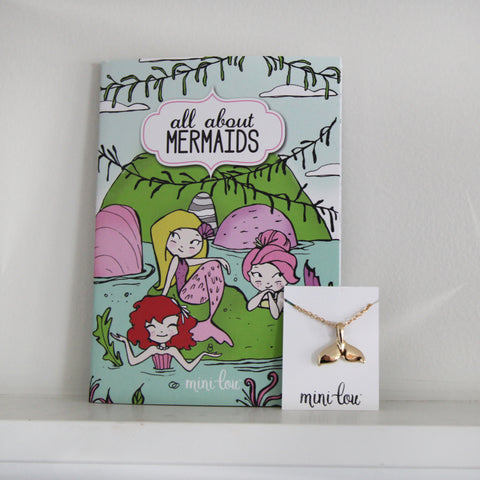 All About Mermaids Coloring Book and Mermaid Necklace Gift Set