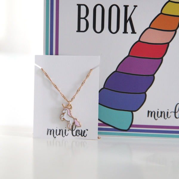 The Unicorn Horn Coloring Book and Unicorn Necklace Gift Set