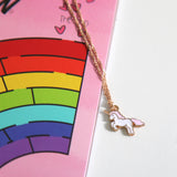 Unicorn & Rainbow Mazes Coloring Book and Unicorn Necklace Gift Set