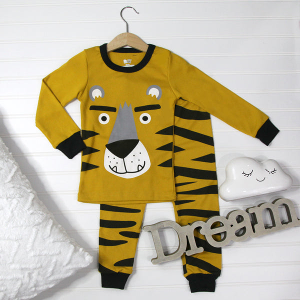 Warm Kid Pajamas - Tiger