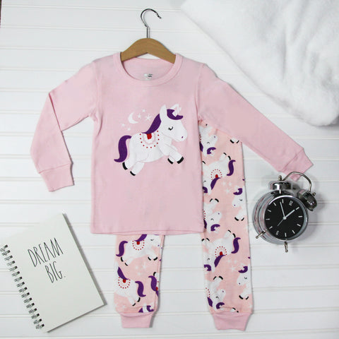 Warm Kid Pajamas - Unicorn