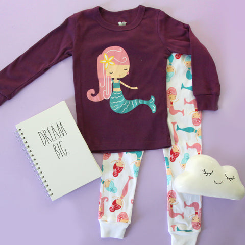 Warm Kid Pajamas - Mermaid