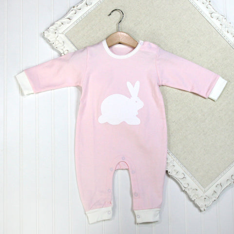 Baby Girl Long Sleeve Rompers - Bunny