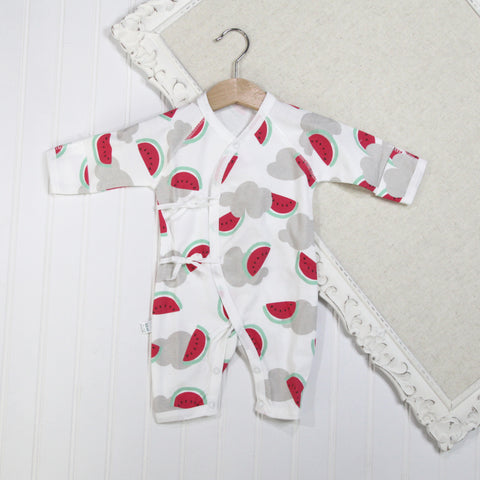 Baby Girl Long Sleeve Rompers - Watermelon