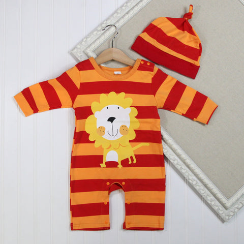 Baby Boy Long Sleeve Rompers - Lion