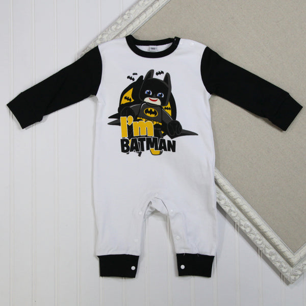 Baby Boy Long Sleeve Rompers - Batman