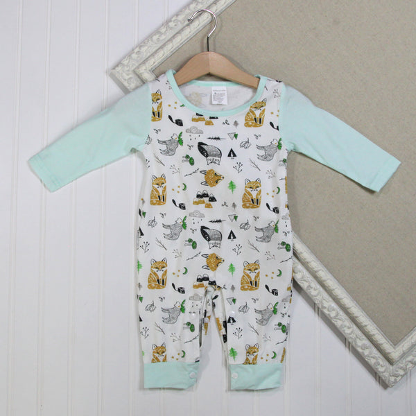 Baby Boy Long Sleeve Rompers - Woodland