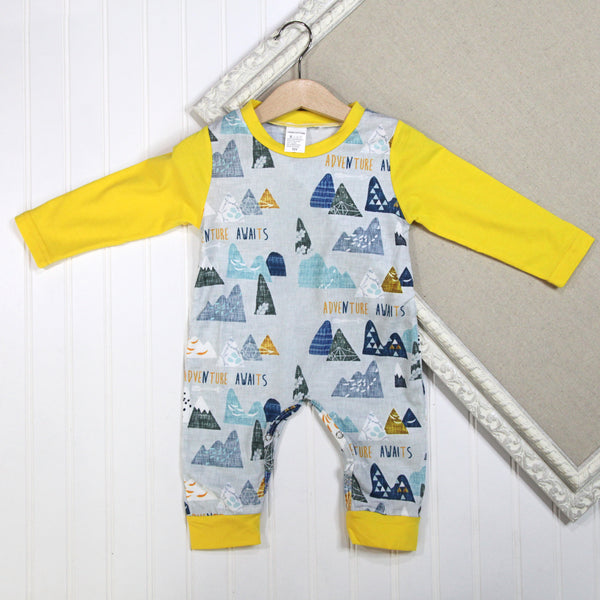 Baby Boy Long Sleeve Rompers - Mountains