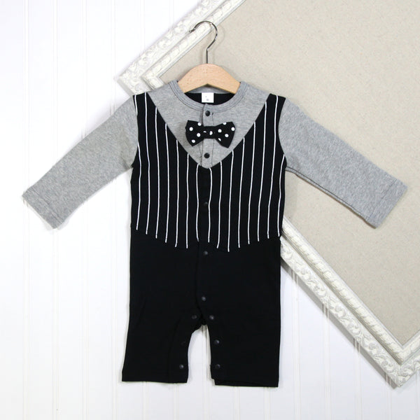 Baby Boy Long Sleeve Rompers - Tux