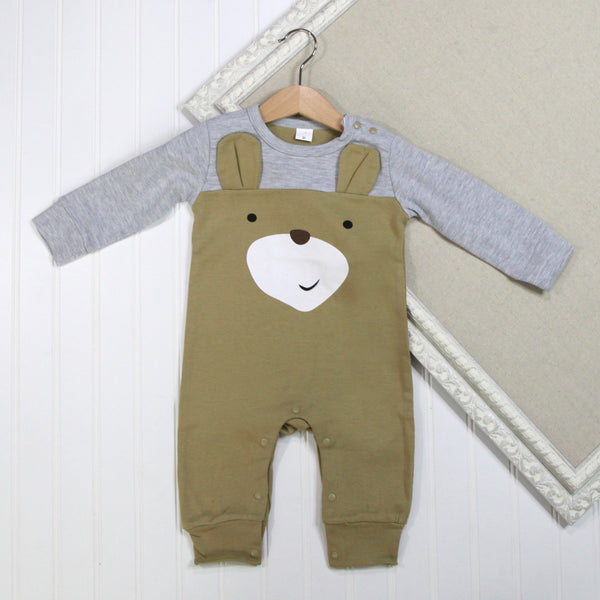 Baby Boy Long Sleeve Rompers - Bear