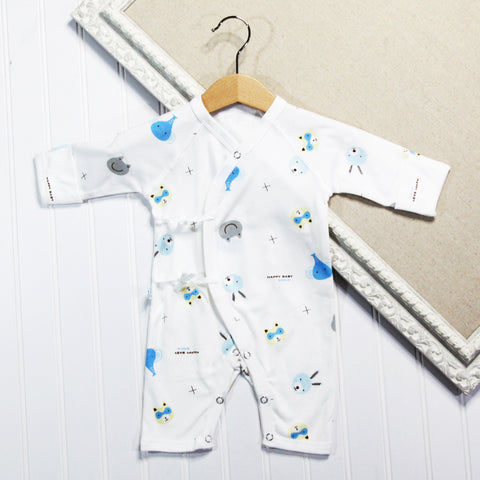 Baby Boy Long Sleeve Rompers - Animal