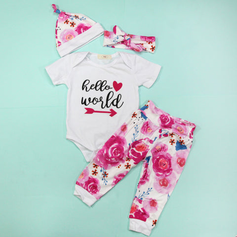 Full Baby Outfits - Hello World