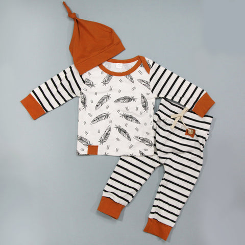 Full Baby Outfits - Feathers
