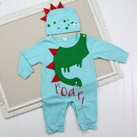 Baby Hat and Romper Set - Roar