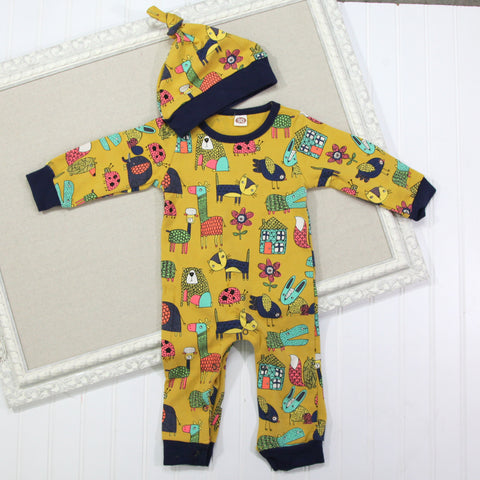 Baby Hat and Romper Set - Yellow