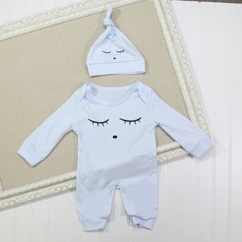 Baby Hat and Romper Set - Sleep