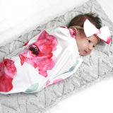 Newborn Swaddle Sack and Hat or Bow | 21 Styles