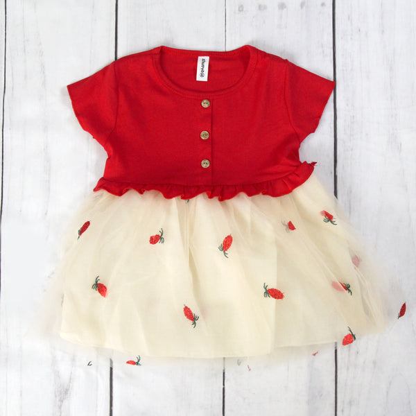 Fancy Baby Dress -Red Tulle