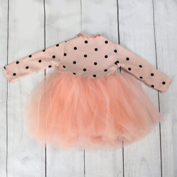 Fancy Baby Dress -Pink Polka Dot