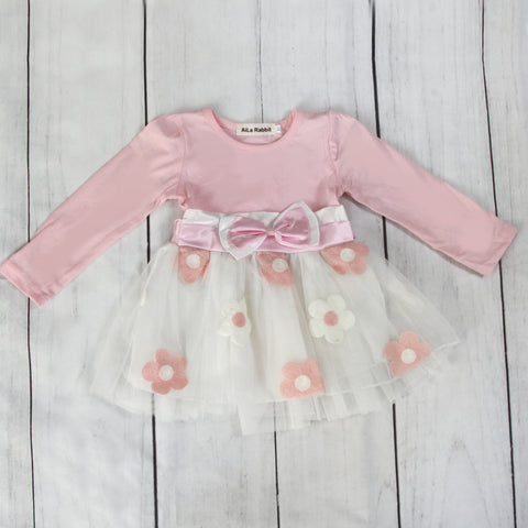 Fancy Baby Dress - Pink Bow