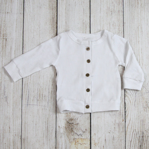 Layering Cardigan - Button White