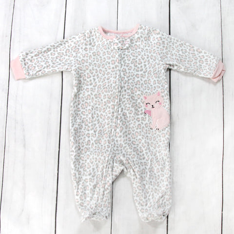 Softest Fleece Baby Pajamas with Feet - Kitty