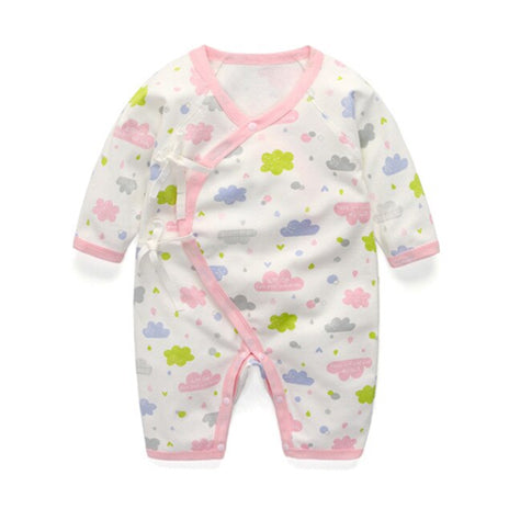 Long Sleeve Sleepy Baby Pajamas - Pink Clouds