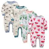 Long Sleeve Sleepy Baby Pajamas - Shark, Cactus, Tree, Watermelon