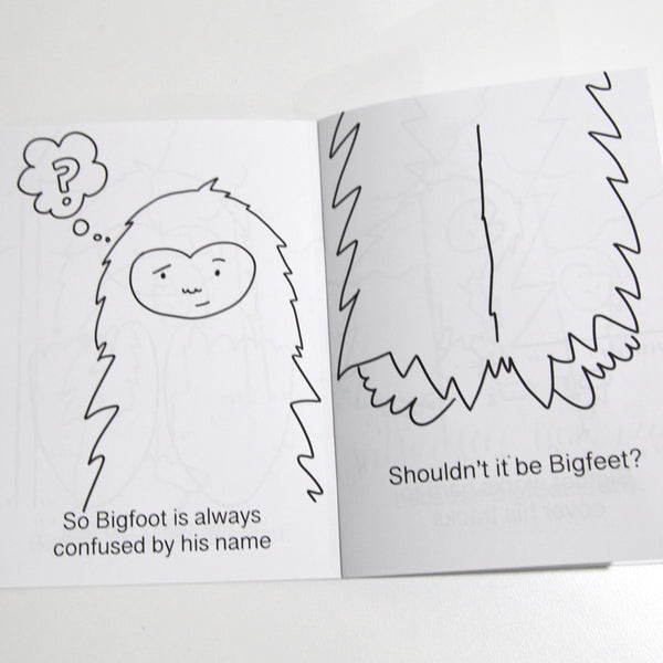 Bigfoot Coloring Book